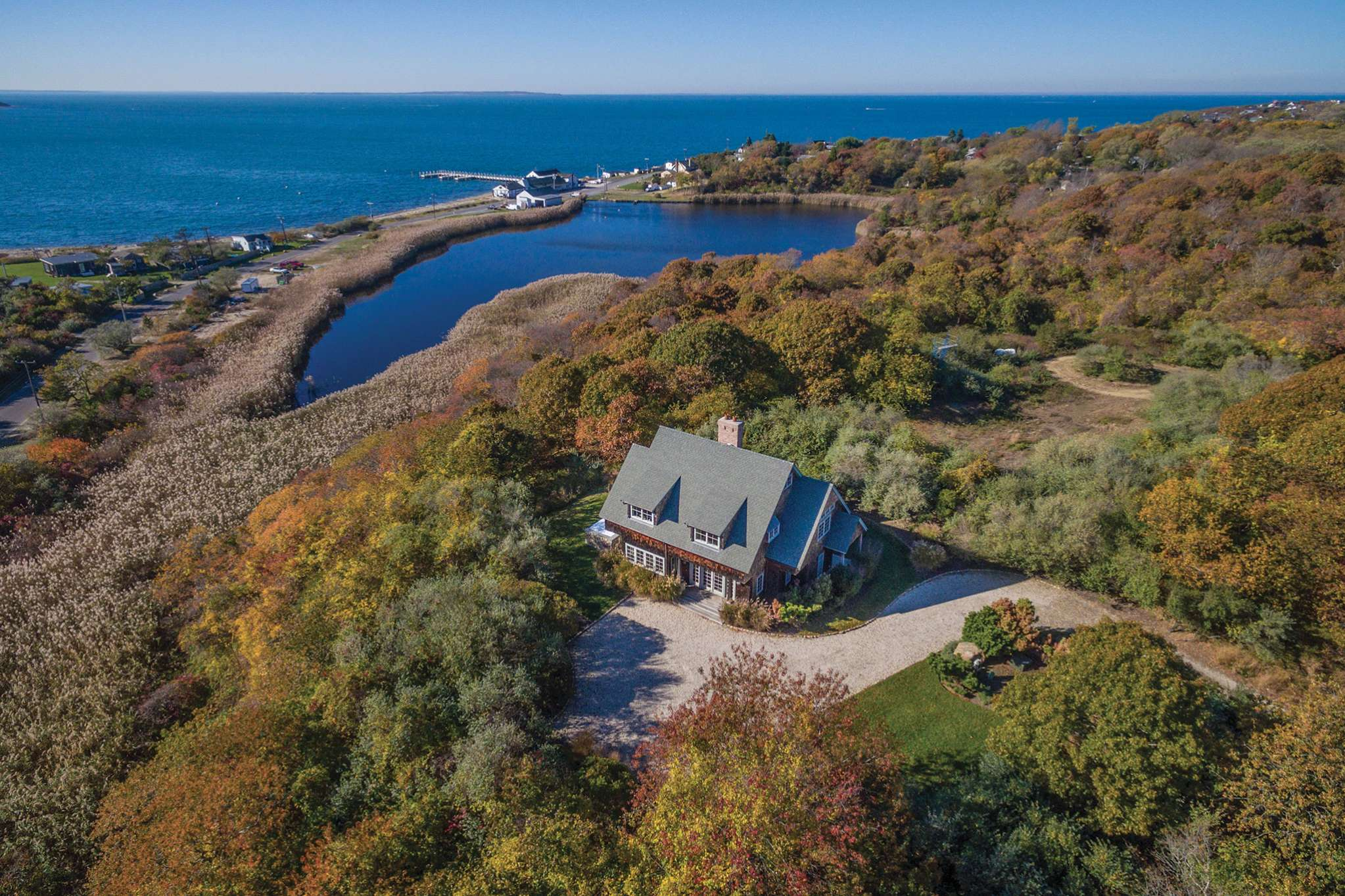 Single Family Home for Sale at Elegant And Private With Stunning Sunsets And Water Views 15 Edgemere Street, Montauk, New York