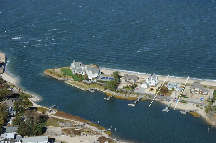 Single Family Home for Sale at Bayfront Treasure With Panoramic Waterviews Of Bay With Dock Southampton, New York