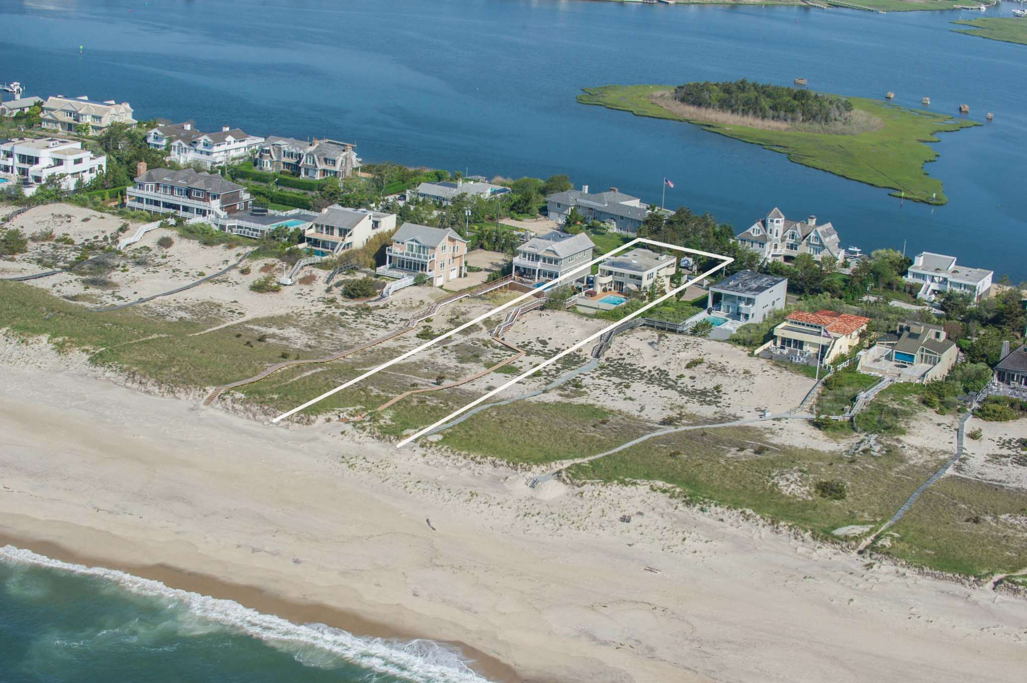 Single Family Home for Sale at Between The Bridges Oceanfront With Pool 165 Dune Road, Westhampton Beach, New York