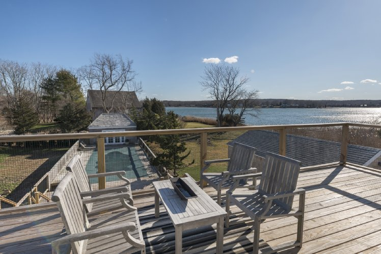 Single Family Home for Rent at Sag Harbor Village Charmer With Water Views Sag Harbor, New York