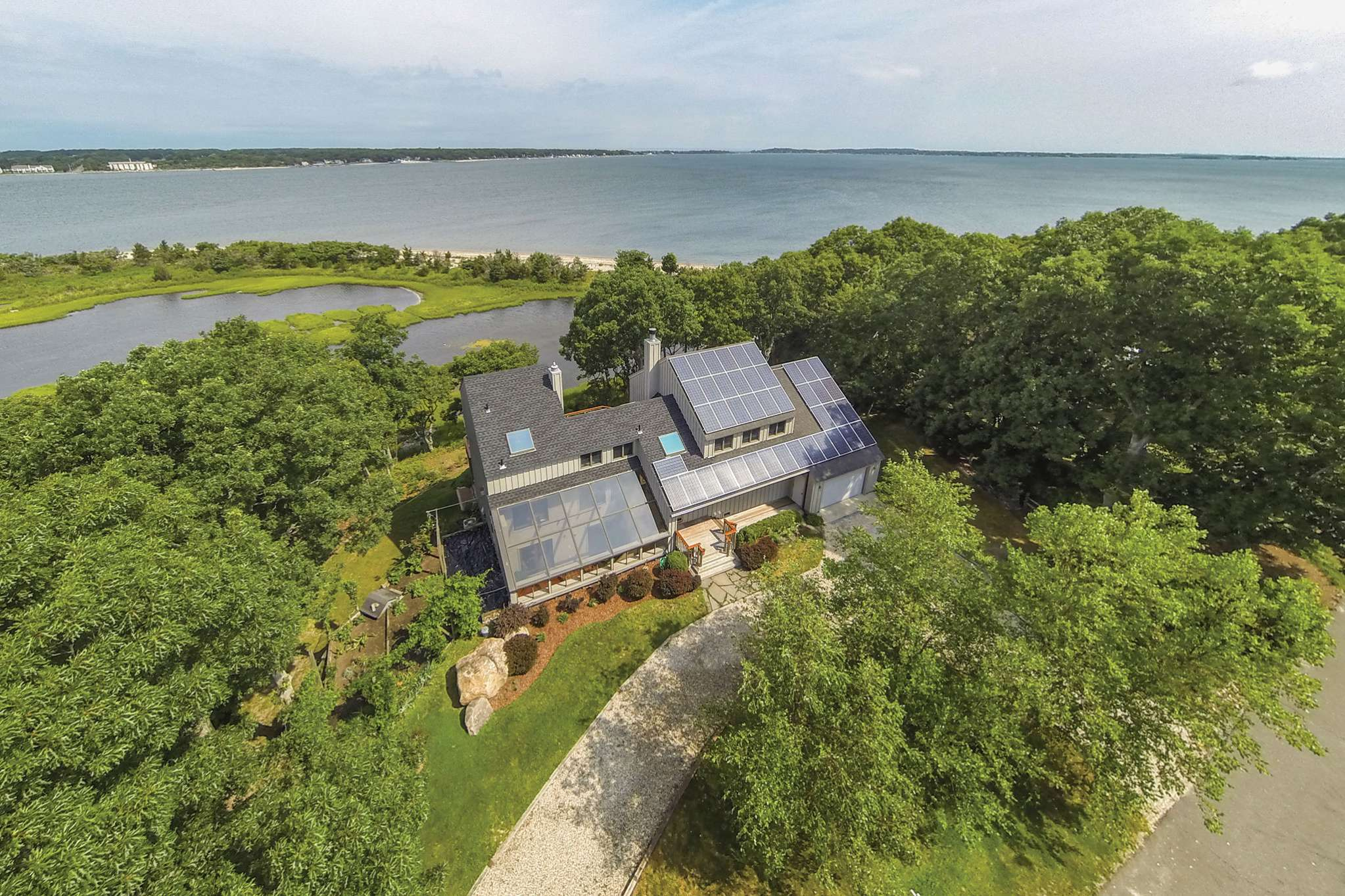 Single Family Home for Rent at Shelter Island Modern With Beach On Gardiners Bay Shelter Island, New York